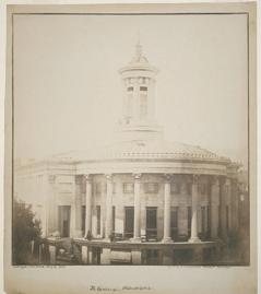 Merchants Exchange, Philadelphia 1849 Salt print from a paper negative, Langenheim brothers.